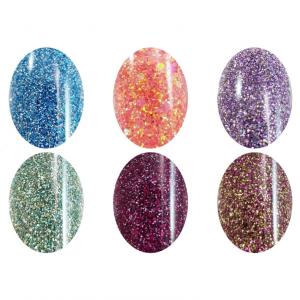 Acrylic Powder Glitter Collection 6pcs
